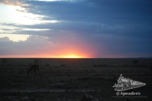 Un atardecer en Masai Mara es siempre un espectáculo.