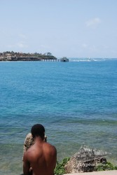 Esta imagen fue tomada en Mombasa, en la parte costera del fuerte.