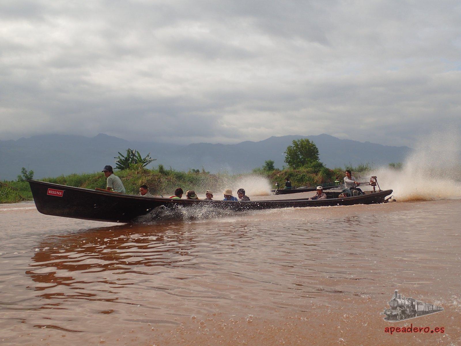Barcas del lago Inle