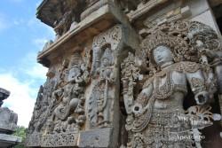 El templo de Belur es el menos espectacular en mi opinión, peor aún así vale la pena visitarlo.
