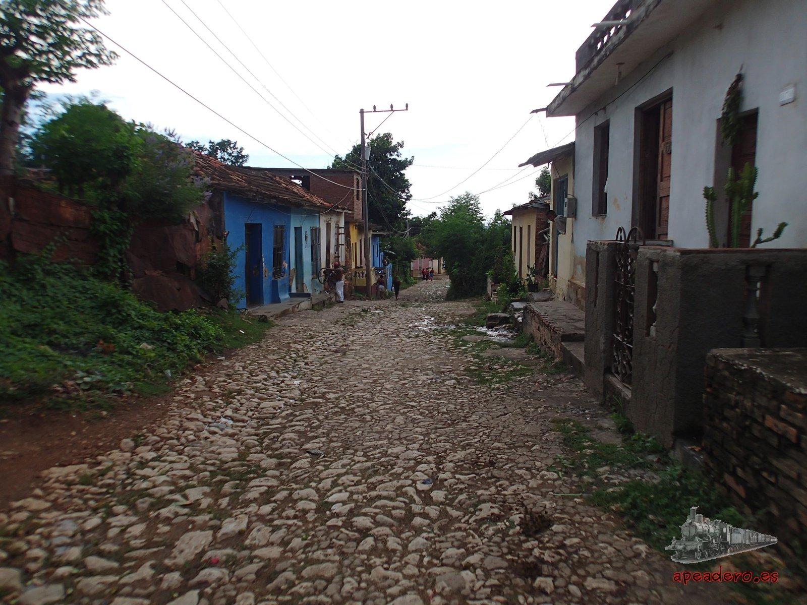 Lo más característico de Trinidad son sus calles empedradas.