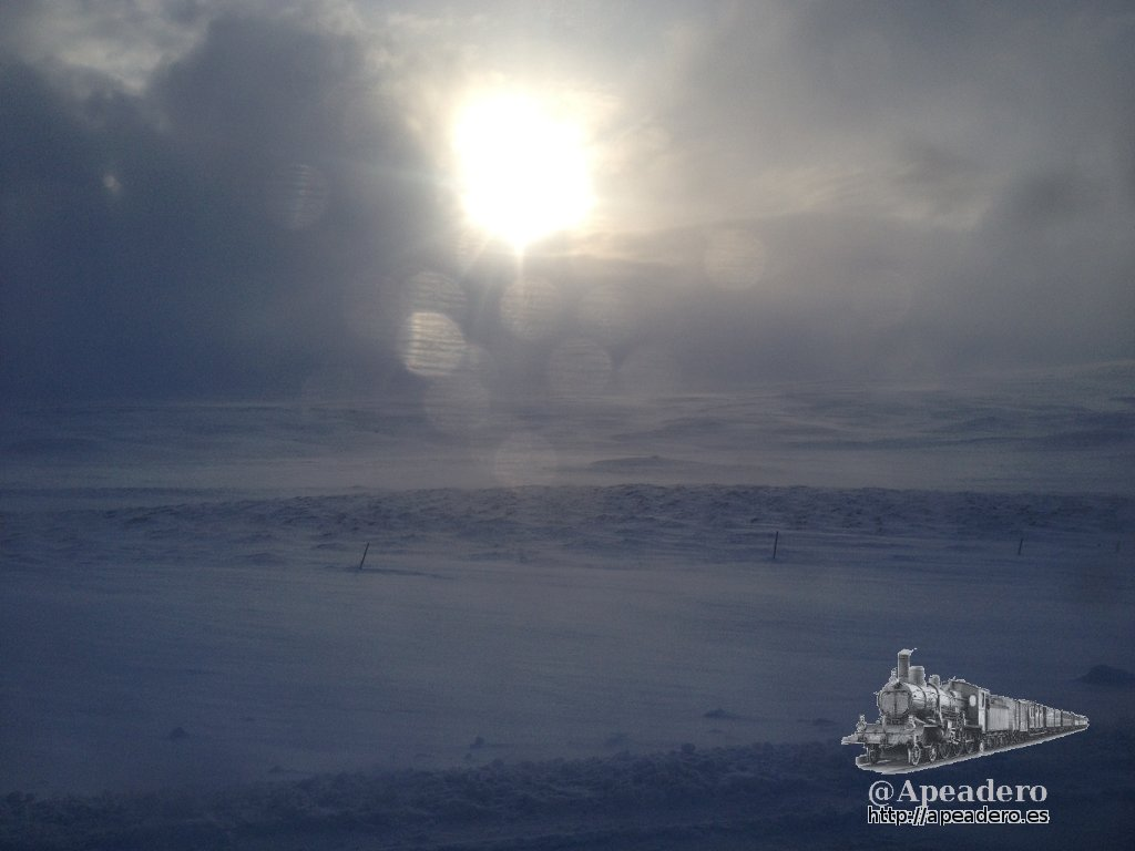 Así era el entorno en el cual nos movíamos. Estaba todo nevado, no podíamos salirnos de la carretera ni parar a un lado.
