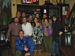 Aquí estamos todos los asistentes a la quedada viajera de 2013.