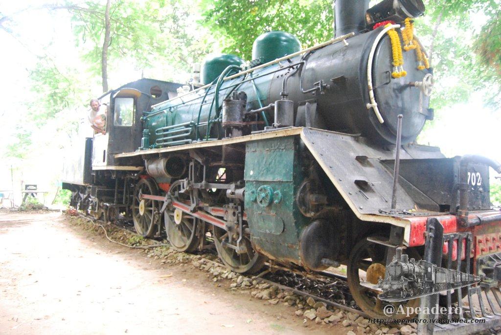 Una antigua locomotora de vapor como las que ya no quedan