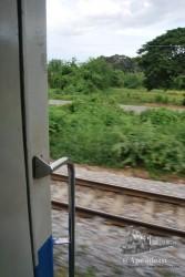 El tren por fuera es bastante cutre, pero por dentro es muy confortable.