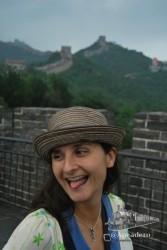 Nuria en la Gran Muralla