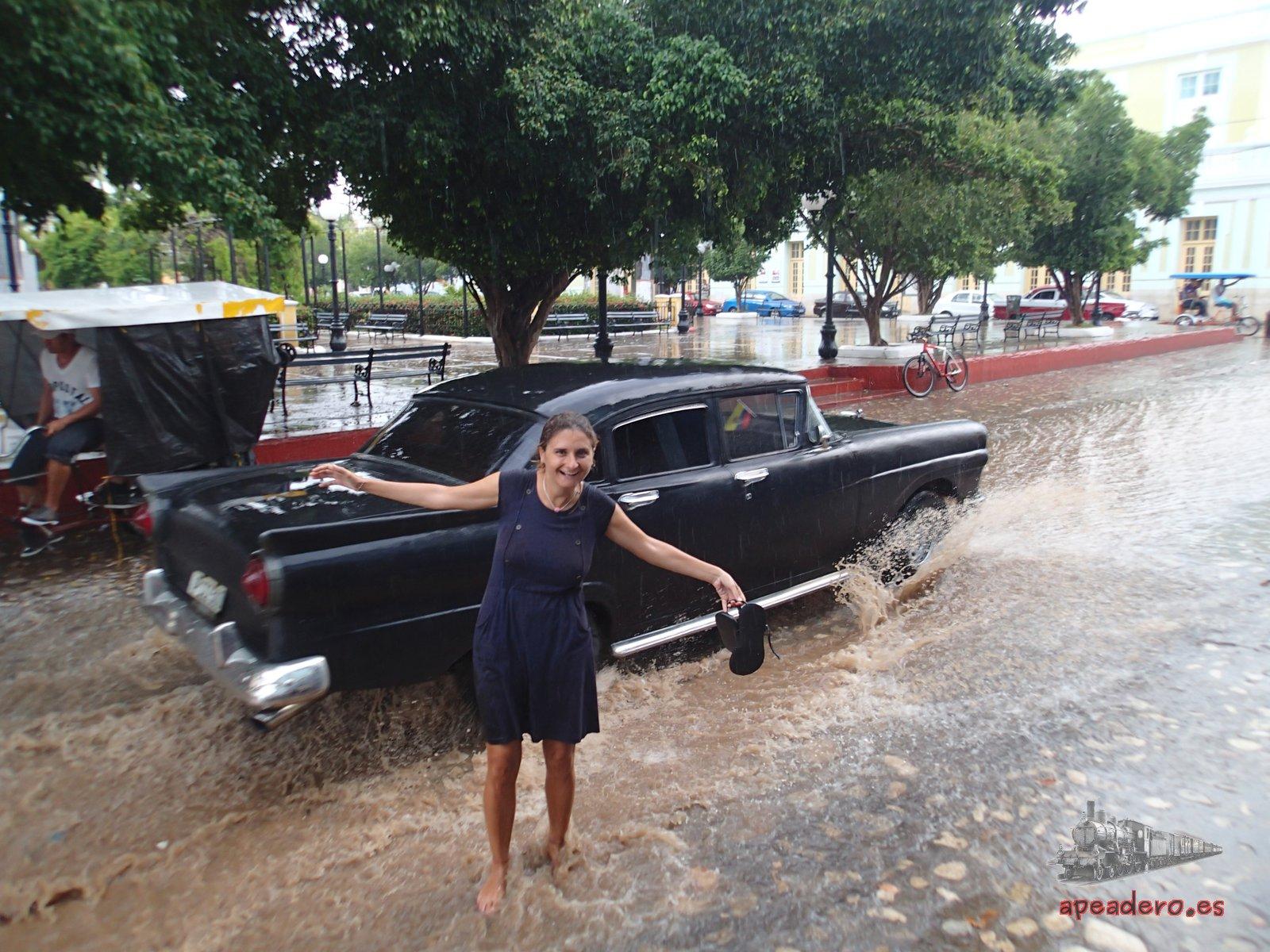 En Cuba cuando llueve, llueve de verdad.