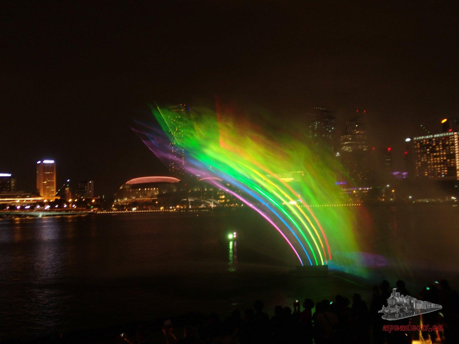 Espectáculo de luces gratuito en Singapur