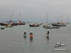 Estatua a los pescadores.