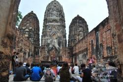 Esta es una clase de futuros guías turísticos. Todos tailandeses, por supuesto, ya que el gobierno es muy restrictivo con la posibilidad de que los extranjeros trabajen.