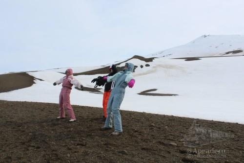 El viento en la cima del volcán era tremendo, costaba mantenerse en pie.