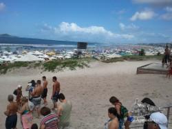 En las fotos apenas se puede percibir la cantidad de gente que había en esta playa. Era algo impresionante.