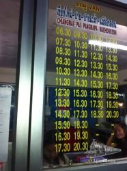 Estos son los horarios de las furgonetas que van desde Chiang Mai a Pai, Pangmapa y Mae Hong Son