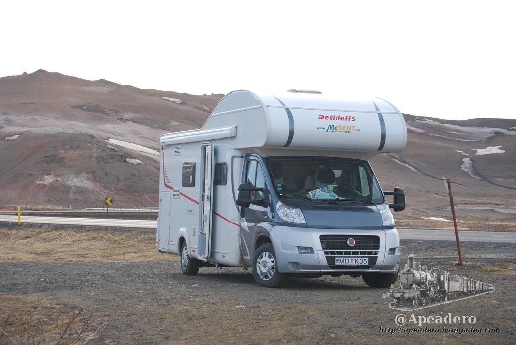 Con esta autocaravana hicimos 2800 km dándole la vuelta a Islandia.