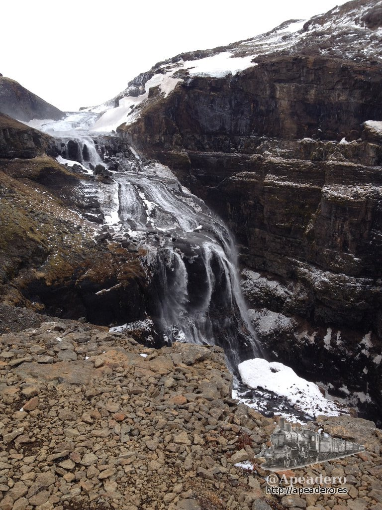 Ruta de senderismo en Glymur (Islandia)