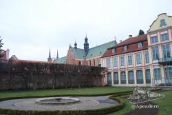 El parque que rodea a la catedral de Oliwa es muy bonito, pero no tuvimos mucho tiempo de disfrutarlo.