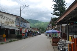 Así son las calles de Pai un día cualquiera por la mañana.