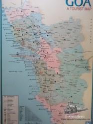 Mapa turístico del estado de Goa