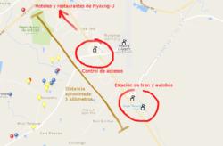 Mapa de posición para observar cómo entrar gratis a los templos de bagan