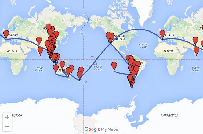 De aventuras por el mundo – Entrevista viajera