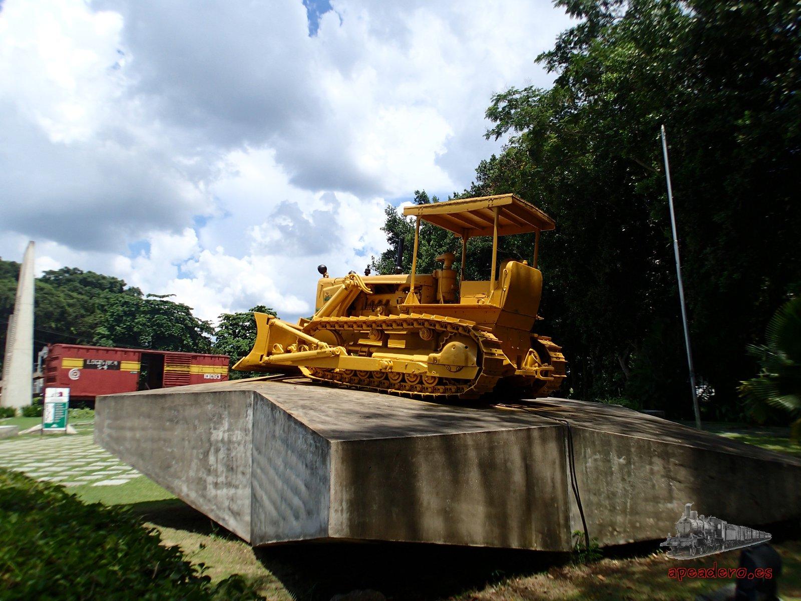 El parque del tren blindado recrea el acontecimiento histórico que ocurrió en Santa Clara durante la Revolución.