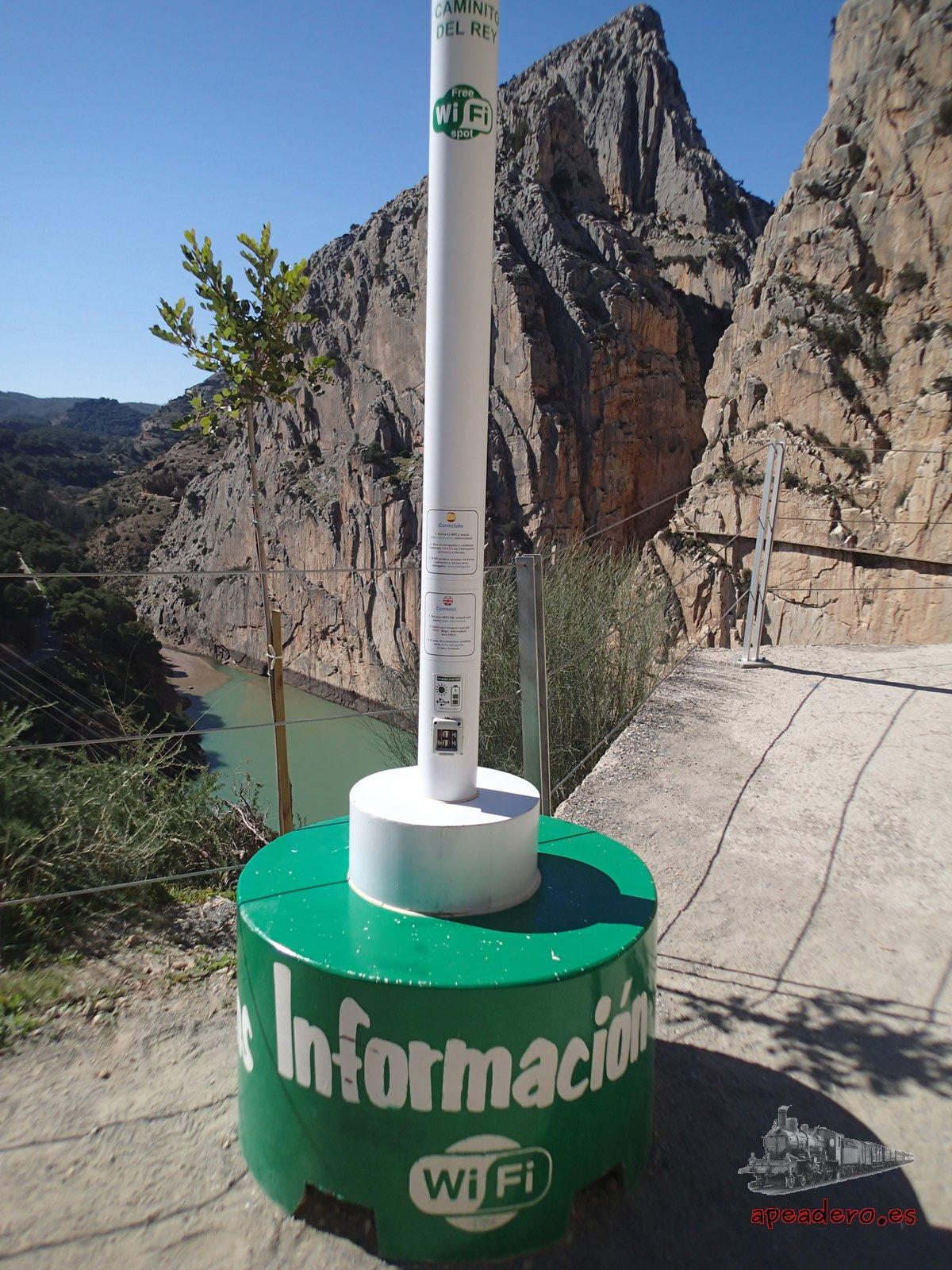 Punto wifi en El Caminito del Rey