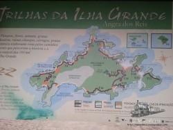 Mapa de senderos de la isla (foto de un cartel que hay en Villa de Abraao).