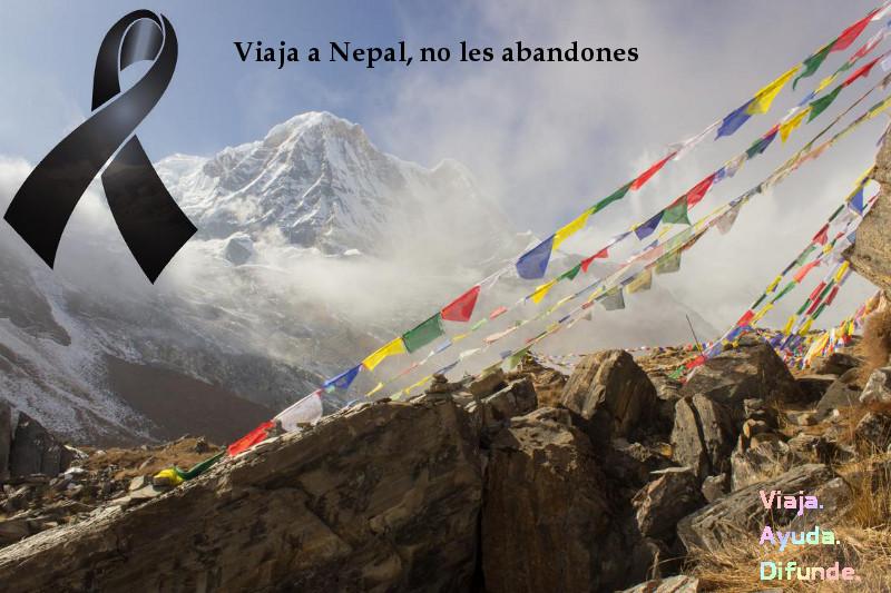 Únete a la campaña de solidaridad con Nepal difundiendo la idea de que no se puede abandonar a los nepalíes en estos momentos difíciles. Puedes usar libremente esta imagen si lo consideras conveniente o usa las tuyas propias.