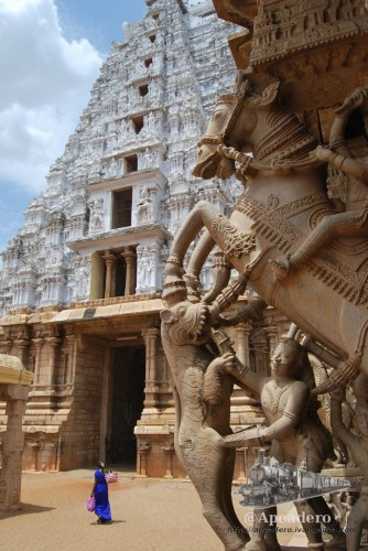Esta foto no es del templo de Madurai. Es del templo de Trichy, pero me apetecía publicarla en este artículo.