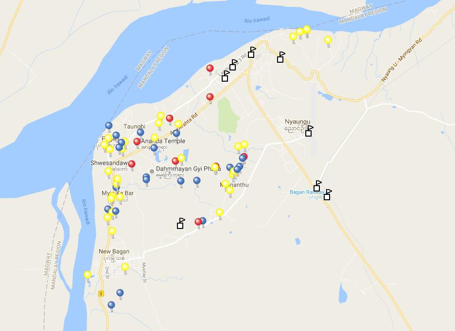 Guía de los templos de Bagan (con puntos GPS)