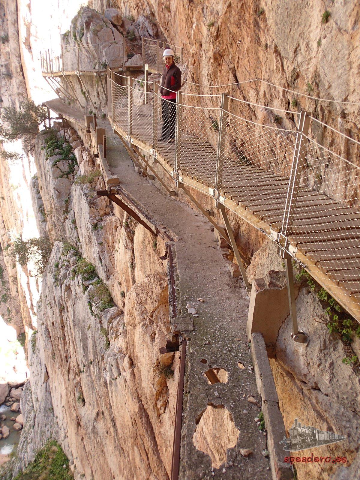 Viejas pasarelas de El Caminito del rey