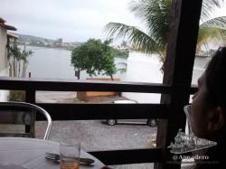 Estas son las vistas desde nuestro hostel en Buzios.