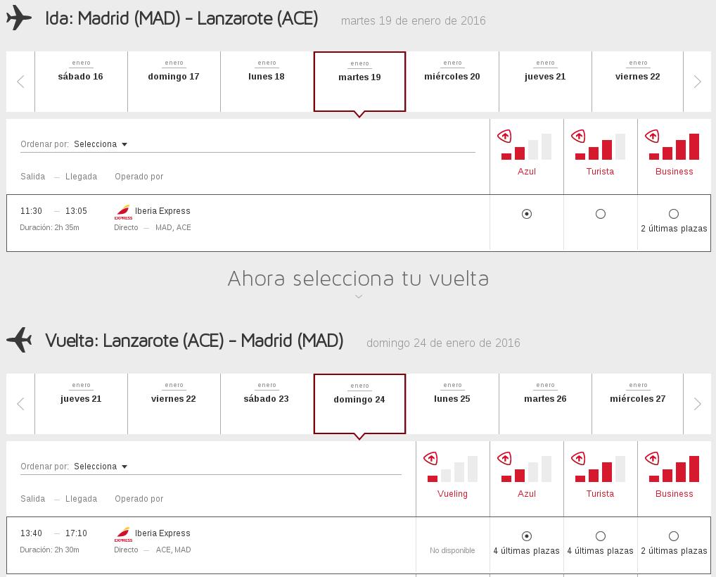 Vuelos con programas de puntos de Iberia Cards