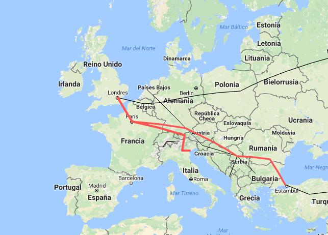 La vuelta al mundo en tren por Europa