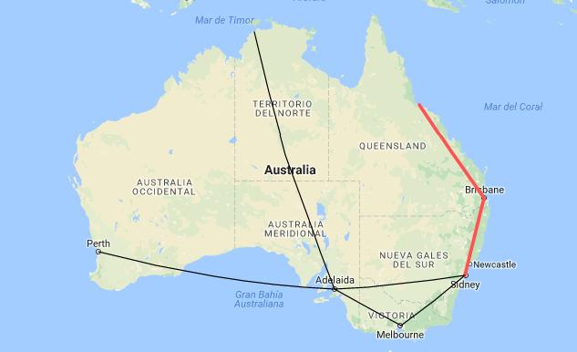 Vuelta al mundo en tren por Oceania