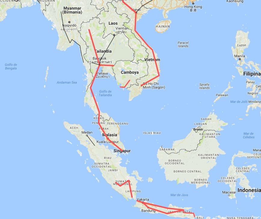 Vuelta al mundo en tren por el sudeste asiático