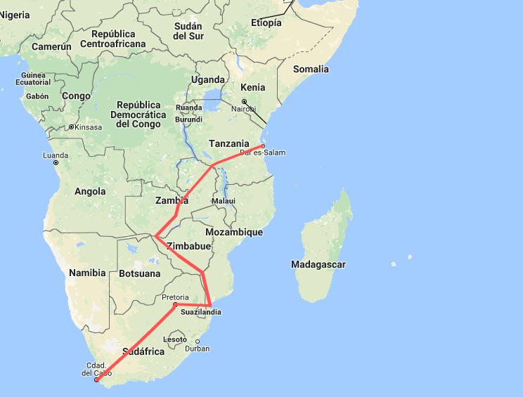 Vuelta al mundo en tren por Africa