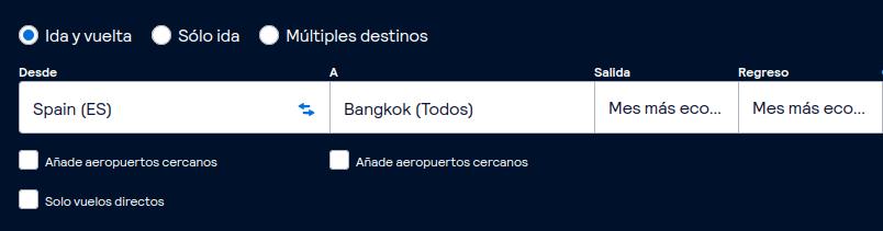 El buscador de SkyScanner te dirá cual es el mejor precio que puedes encontrar para tus vuelos.