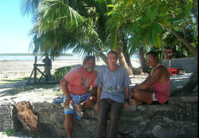Jorge Juan Sánchez Garcia en las islas del pacífico