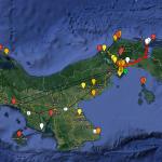 Bájate el mapa de Panamá con puntos GPS gratis