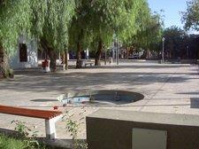 Plaza tipica de San Juan, con muchos árboles para soportar el calor