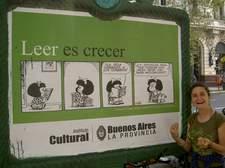 Mafalda es omnipresente en la vida de la ciudad.