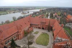 Desde lo alto del castillo de Malbork se divisa toda la ciudad.